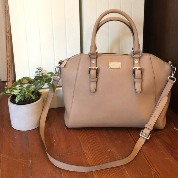 Ciara Large Saffiano Leather Satchel